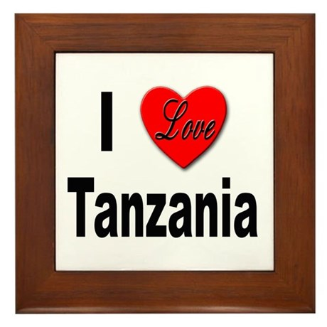 I Love Tanzania Africa Framed Tile