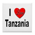 I Love Tanzania Africa Tile Coaster