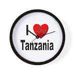 I Love Tanzania Africa Wall Clock