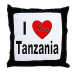 I Love Tanzania Africa Throw Pillow
