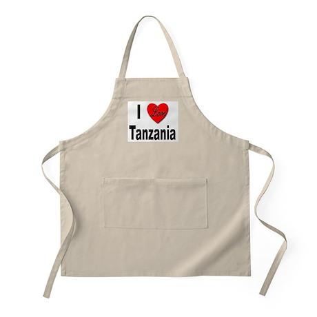 I Love Tanzania Africa BBQ Apron
