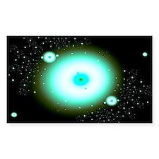 Nebula 9 Fractal Art Rectangle Sticker 10 pk)