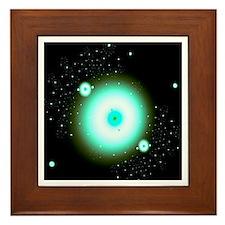Nebula 9 Fractal Art Framed Tile