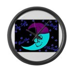 Sleepy Moonlight Large Wall Clock