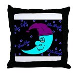 Sleepy Moonlight Throw Pillow