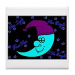 Sleepy Moonlight Tile Coaster
