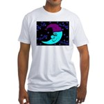 Sleepy Moonlight Fitted T-Shirt