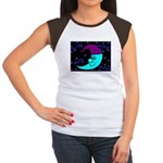 Sleepy Moonlight Women's Cap Sleeve T-Shirt
