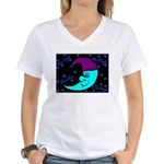Sleepy Moonlight Women's V-Neck T-Shirt