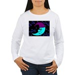 Sleepy Moonlight Women's Long Sleeve T-Shirt