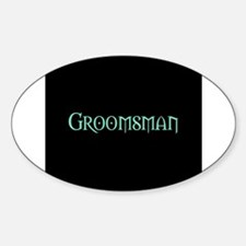 Green Morpheus Groomsman Oval Decal