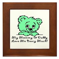 Love Me Beary Much Framed Tile
