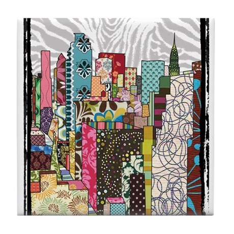 NYC Skyline Tile Coaster
