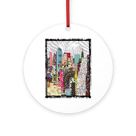 NYC Skyline Ornament (Round)