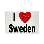 I Love Sweden Rectangle Magnet (10 pack)