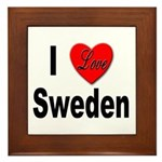 I Love Sweden Framed Tile
