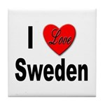 I Love Sweden Tile Coaster