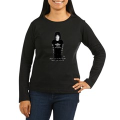 Gothley Look Women's Long Sleeve Dark T-Shirt