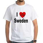 I Love Sweden (Front) White T-Shirt