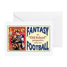 FANTASY FOOTBALL 1933 Greeting Card