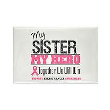 BreastCancerHero Sister Rectangle Magnet