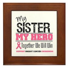 BreastCancerHero Sister Framed Tile
