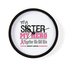 BreastCancerHero Sister Wall Clock