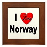 I Love Norway Framed Tile