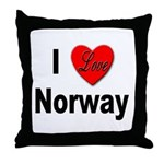 I Love Norway Throw Pillow