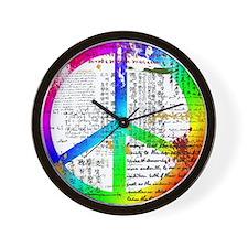 Cute Distressed look Wall Clock