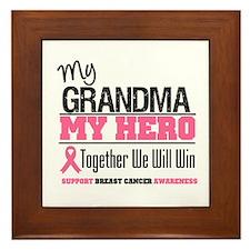 BreastCancerHero Grandma Framed Tile