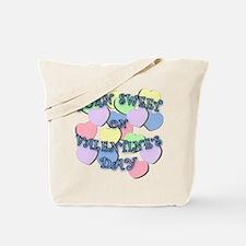 Valentine Birthday BLUE Letters Tote Bag