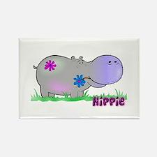 Hippie Hippo Rectangle Magnet