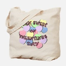 Born on Valentines Day PINK Letters Tote Bag