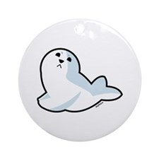 Baby Seal Ornament (Round)