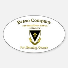 b co 1/329 gld Oval Decal