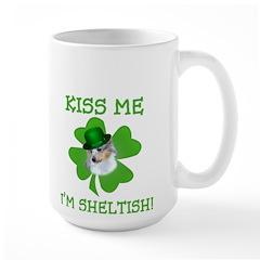 Blue Merle Sheltish Large Mug