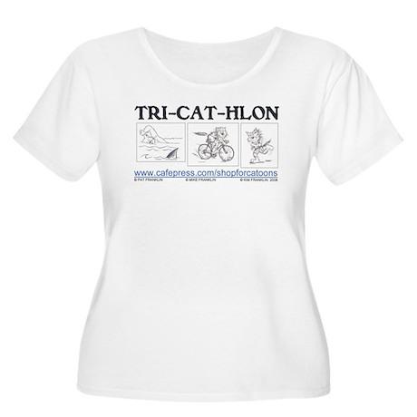 Catoons™ TRI-CAT-HLON™ Cat Women's Plus Size Scoop