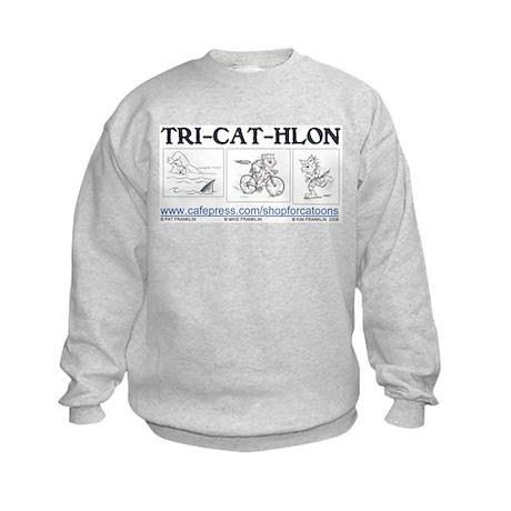 Catoons™ TRI-CAT-HLON™ Cat Kids Sweatshirt