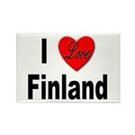 I Love Finland Rectangle Magnet (10 pack)