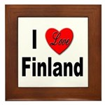 I Love Finland Framed Tile