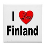 I Love Finland Tile Coaster