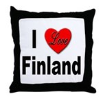 I Love Finland Throw Pillow