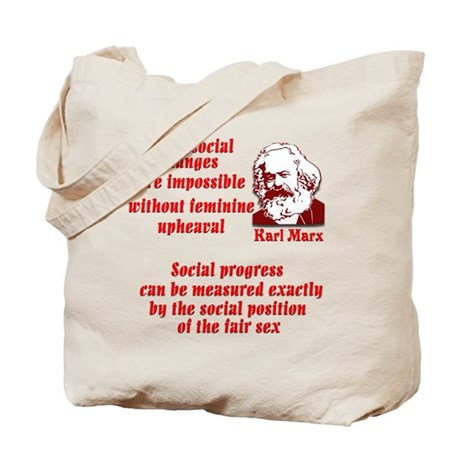 Karl Marx on Women Tote Bag