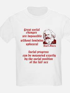 Karl Marx on Women T-Shirt