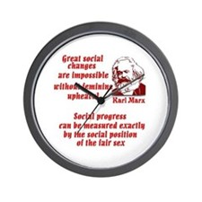 Karl Marx on Women Wall Clock