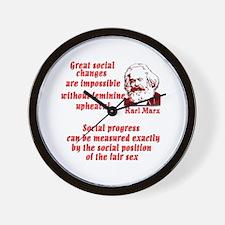 Karl Marx on Women Wall Clock