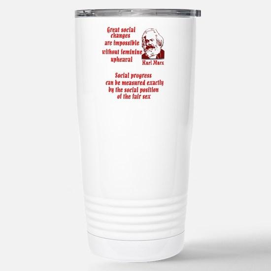 Karl Marx on Women Stainless Steel Travel Mug
