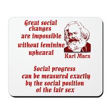 Karl Marx on Women Mousepad