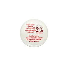 Karl Marx on Women Mini Button (100 pack)